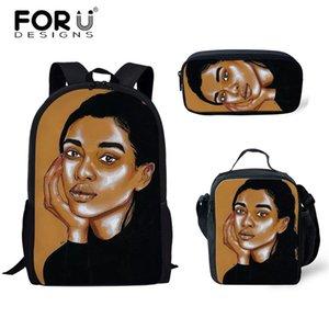 Forudesigns yeni okul çantası set afrika siyah kız saç baskı baskı sırt çantaları çocuklar için okul çantaları kızlar gençler için