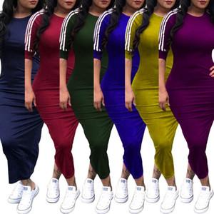 Kadınlar tasarımcı etek uzun kollu tek parça elbise yüksek kalite bodycon elbise seksi zarif lüks moda maxidress sıcak klw0196
