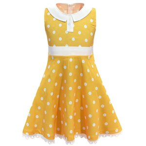 Girls Dot Gabby Dress Cosplay 4 Costume Kids Sleeveless Casual Clothing Child Summer Mini Dress Cartoon Gabby Vestido