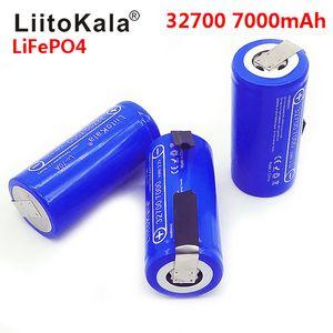 LiitoKala 3.2V 32700 7000mAh 6500mAh LiFePO4 Batterie 35A kontinuierliche Entladung Maximum 55A Hochleistungsakku + Nickelbleche