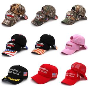 16 Stilleri Trump 2020 Beyzbol Şapka Nakış Donald Trump Amerika Büyük Kap Tutmak Amerika Başkanı Trump Kamuflaj Güneş Kremi Şapka BH1890 TQQ