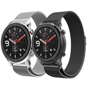 Huami Amazfit Bip için Metal Bilezik Band Xiaomi Huami Amazfit GTR 47mm 42mm için Gençlik Watchband Milanese Döngü Bilek Kayışı lite