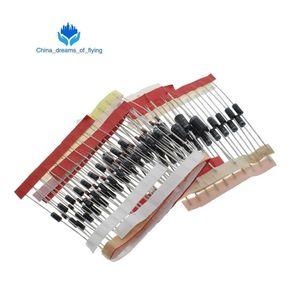 Kit diodi Schottky a commutazione rapida 1N4148 1N4007 1N5819 1N5399 1N5408 1N5822 FR107 FR207,8 valori = 100 pezzi, componenti elettronici