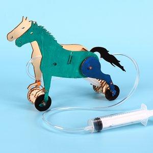 Творческая гидравлической машины лошадь технология Поршень Popular Science Креативного DIY головоломка сборки механическая модель игрушка