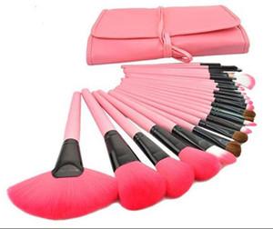 24pcs set Professional Makeup Brushes Set Cosmetic Brush Make Up Brush Kit Makeup Tool +Leather Case