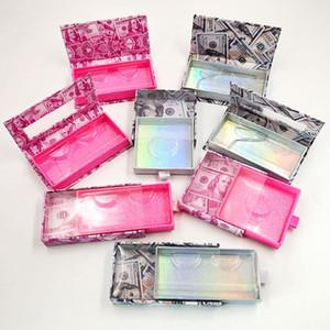 Nouveau 10 Gros Faux cils emballage Boîte 3d Faux Vison Cils DIY Logo personnalisé Flash emballage boîte chaude
