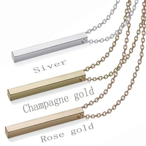 Personalized Gold Bar Necklace Name Plate Delicate Horizontal Bar Gold Nameplate Necklace