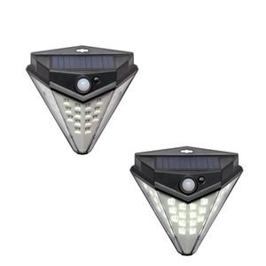 32LED luz da parede solar sensores de movimento da luz super brilhante 4 luzes laterais à prova d 'água à prova d' água IP65 durável lâmpadas solares ao ar livre