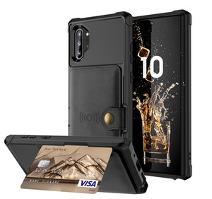 Per Samsung Galaxy Custodia a portafoglio Nota 10 Plus Nota 10 Custodia per carta di credito Custodia in pelle PU Flip Photo Cover Cover posteriore rigida per Galaxy Note 10