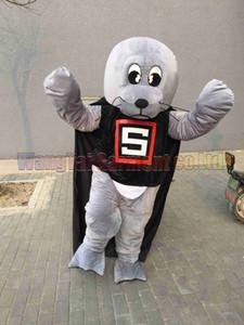Alta qualità ramo Super Sea Lion costume della mascotte di Carnival Parade Qualità Clown Halloween attività del partito Fancy Outfit Free Shipping