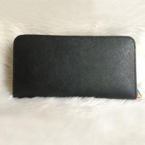 Spedizione gratuita donna Vera Pelle borsa da donna alta qualità lunga cerniera singola portafogli Croce modello 008 borsa con scatola di carta