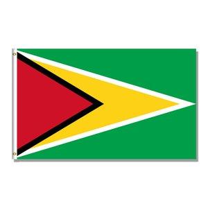 Guyana National Flag 3x5FT 150x90cm 100D 100% Occhiello di ottone poliestere Banner per la decorazione Hanging Pubblicità Bandiera personalizzato