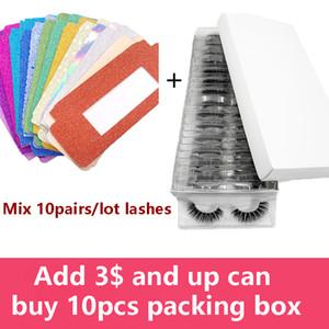 Wholesale 3D Mink Eyelashes 10 20 30 40 50 Pairs Lot Natural Eyelashes In Bulk With False Lashes DIY Colorful Packing Paper Box