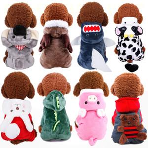 21 Designs nette Hundekostüm verwandelt Kleid korallenrote Vliesmaterial Haustier Hund warme Kleidung Hund Kleidung Dekoration für Herbst Winter