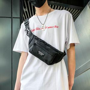 Waterproof Sports Chest Bag Men Belt Pack Casual Waist Bag Male Phone Pouch Black Nylon Unisex Crossbody Bags Man Travel Pouch