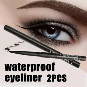 Wholesale- Hot Sale! 2pcs/lot Women Waterproof Retractable Rotary Eyeliner Pen Eye Liner Pencil Makeup Cosmetic Tool 131-0229 free shipping