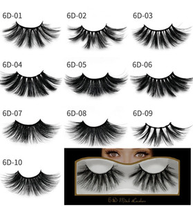 Newest Mink eyelashes makeup 6D mink lashes False Soft Natural Thick Cross Handmade with pack 25mm Premium High Quality DHL shipping