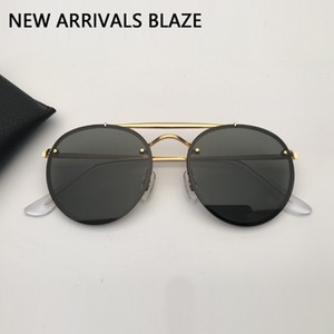 designer sunglasses men women sunglasses double bridge blaze sun glasses de soleil with black or brown leather case, and all accessories!!