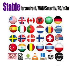 garantia OTT além Holandês americano UK Arabe Francês Italia 1 ano para a caixa android x96mini Linux MAG 322/250/254 m3u samrt tv