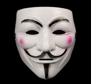 1pc Hot Sale White Yellow Black V for Vendetta Guy Fawkes Mask Anonymous Halloween Cosplay Costumes Party Supplies Scary prop