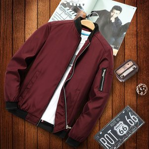 2020 Autumn Winter New Mens Zip Up Fashion Brand Slim Fit Caots Male Casual Baseball Bomber Jacket Mens Brand Overcoat Clothing