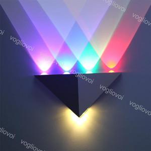 Aluminum Triangle Lâmpada LED Wall 5W AC90-265V Modern Home Lighting Living Room Party Light Bola Disco Light DHL