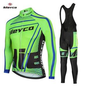 2020 Coodoopai Nueva primavera / otoño de manga larga ciclismo Jersey 9D Bib Pantalones Set Pro Team para hombre MTB Ropa Ropa Maillot Ciclismo Traje