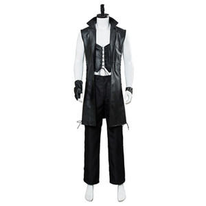 Devil May Cry 5 novo personagem V jaqueta de couro sem mangas jogo cosplay traje masculino trench coat Halloween