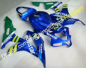 Kit corpo in plastica ABS per Honda CBR600RR F5 2007 2008 CBR 600F5 RR CBR600 600RR Movistar Blue Green Motorcycle Fairing (stampaggio a iniezione)