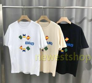 20SS neueste Sommer-Luxus-Europa Paris Mens Brief drucken T-Shirt Mode-Staatsflagge Druck-T-Shirt der beiläufigen Frauen High Street Cotton Tee