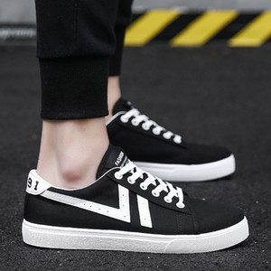 Beautiful Men Women Casual Shoes Unisex Fashion Canvas Shoes Red White Black Walking Outdoor Flat Shoes size 36-44