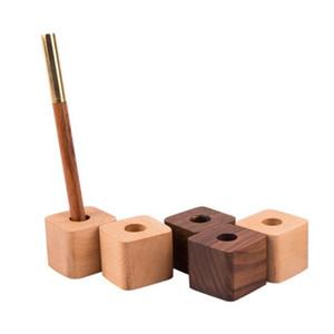 Porta-lápis de madeira Moda Madeira Pen Armazenamento suporte de secretária área de trabalho Home Office Organizer Fast Shipping ZC1543