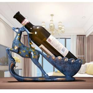 Vin stand Mobilier Bar Table Maison Ameublement Ornements Rouge Wine Rack Articles Cerfs