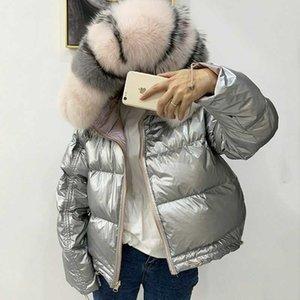FASHION- réel naturel en fourrure de renard Veste d'hiver Nouveau double face manteau imperméable femmes vers le bas Parkas manteaux à capuchon duvet de canard blanc JacketMX190822