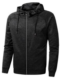 Running Cardigan Slim Men Sports Hoodies Spring Fitness Long Sleeve Hooded Solid Color Mens Sweatshirts With Zipper