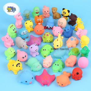 Cute Animal Baby Bath Toys para niños PVC Float Squeeze Sound Dabbling Toys Kids Cat fish Baño Pinch Spray Toy