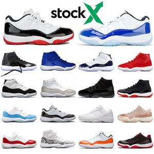 des chaussures nike air jordan 11 2020 Sneakers LOW WMNS CONCORD retro 11 11s New Mens Womens Basketball Shoes XI Bred High Jumpman 23 Cap and Gown Space Jam baskets femmes hommes