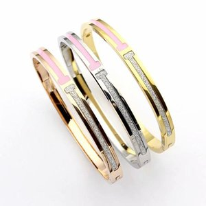 2017 Pay4U Free hot Fashion Popular European And American Jewely Brand Designer Stainless Steel Tone Bangle