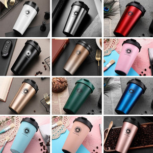 500ML 304 stainless steel coffee cup portable lifting ring gradient color double vacuum coffee Tumbler custom logo Dropshipping T2701