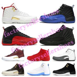 Nike air jordan 12 shoes Basketball Shoes Winterized PE Michigan schwarz Wntr Suede 12S Mens-Basketball-Schuh-Turnschuh-GS Hyper Lemonade Designer Jumpman Trainer zapatos