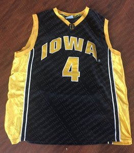 Cheap custom #4 Iowa Hawkeyes Colosseum Basketball Jersey Black Stitched Customize any number name MEN WOMEN YOUTH XS-5XL