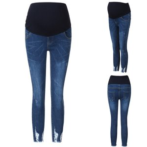 Clothes Of Pregnancy Casual Pregnant Woman Ripped Jeans Maternity Pants Skinny Pencil pants Trousers Nursing Prop Belly Leggings