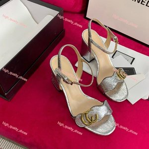 7cm hot sale European luxuriou style ladies summer gold silver high heel sandals brand gold-plated cage bottom Xshfbcl sandals