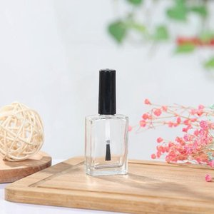 10ml Lucency Empty Glass Nail Polish Square Bottle Liquid Blusher Paint Glue Gel Crystal Nail Art Packaging Containers