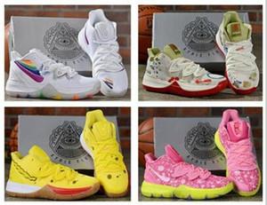 2020 Pineapple House 5 Zapatos Kyrie TV PE zapatillas para Aniversario Irving 5s pintada x Esponja para practicar diversos deportes de color zapatos para correr