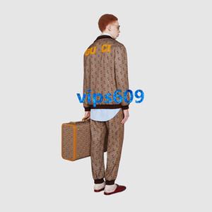 harfi ile 2020 kadın kız Pantolon takım elbisesinin Uzun kollu Standı yaka hayvan resim Casual iki Kıyafet üst kat ve pantolon pritning