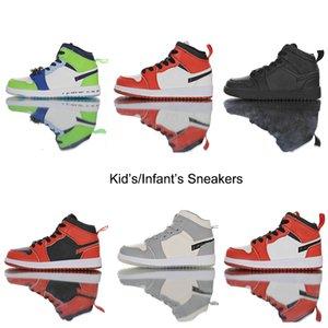 Детские тапки Младенцы Малыши официально показали 35-я годовщина D х J 1 I High OG Wolf Gray Чикаго PJ Tucker Ким Джонс Баскетбол обувь