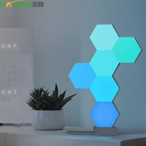 Haoxin DIY Bunte Quantum Lichter Kreative Geometrie Assembly Intelligente Sprach APP Steuerung Modular Touch-Sensitive LED USB Ambient Wandleuchte