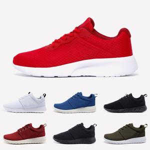 Nike Roshe Run Tanjun Womens Mens di alta qualità olimpico di Londra Tanjun Correre Corsa Scarpe Triple s Nero Bianco Rosso Rosa zapatos tennis allenatori sportivi Sneakers