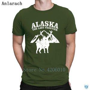 Erkekler Aile Yaz Stili Özelleştirme Crazy For Alaska The Last Frontier Tişört Otantik Hip Hop Vintage% 100 Pamuk Tişörtlü